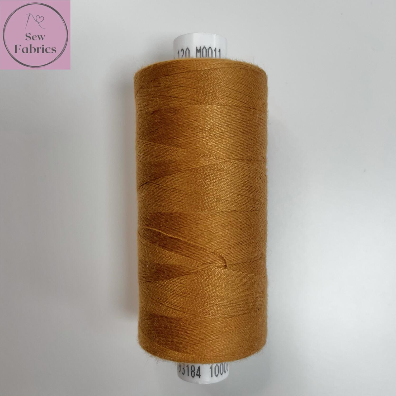 1 x 1000y Coats Moon Thread - Old Gold M011