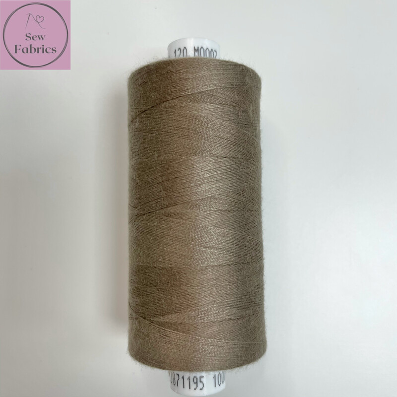 1 x 1000y Coats Moon Thread- Pale Brown M007