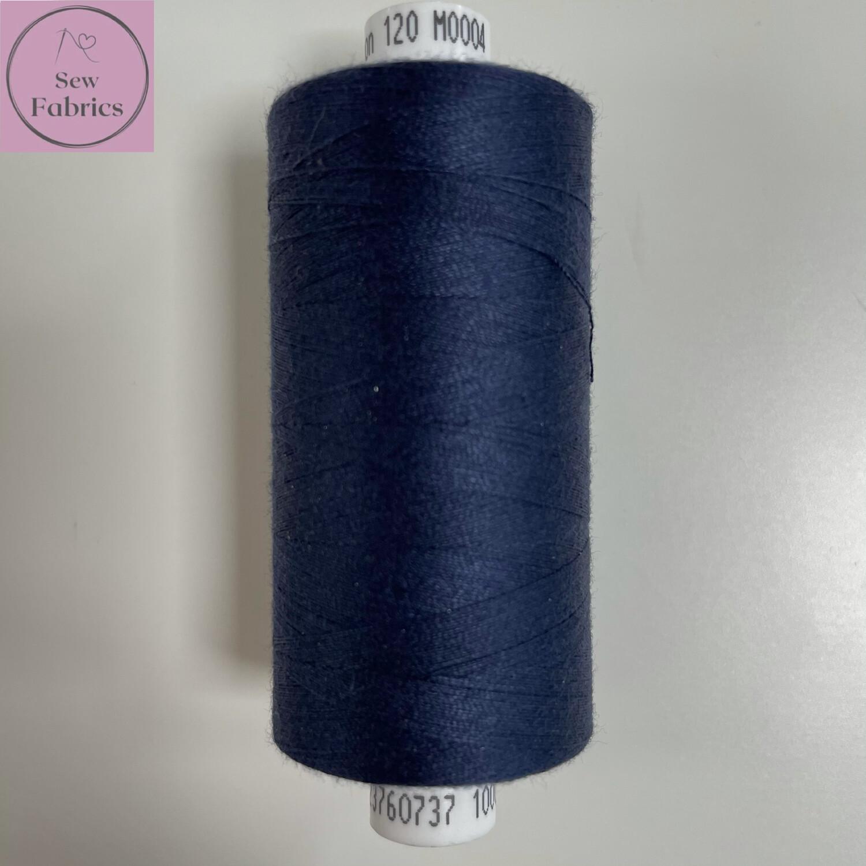 1 x 1000y Coats Moon Thread - Navy Blue M004