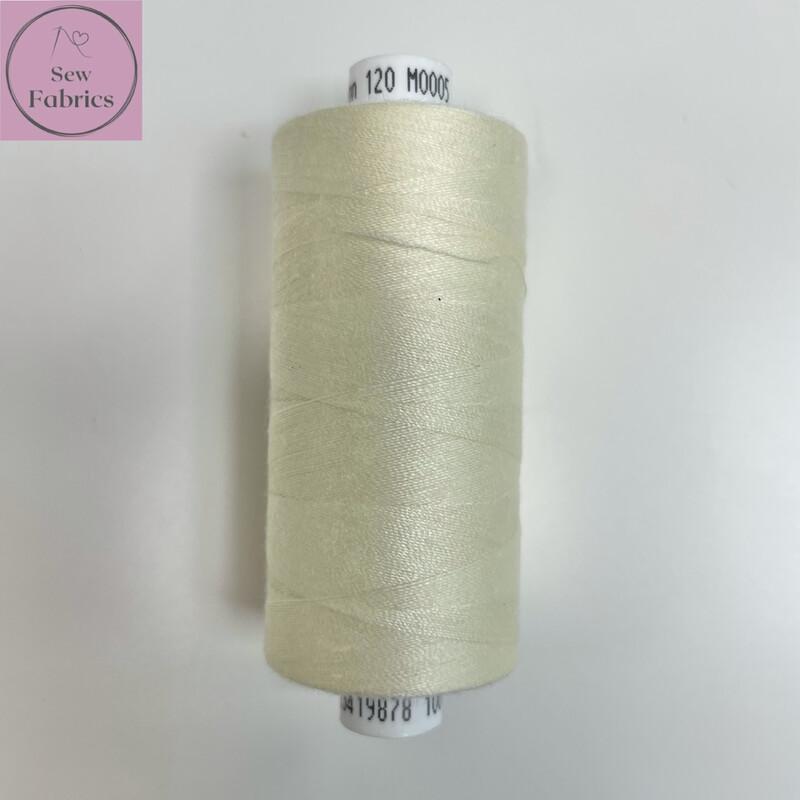 1 x 1000y Coats Moon Thread- Cream M005