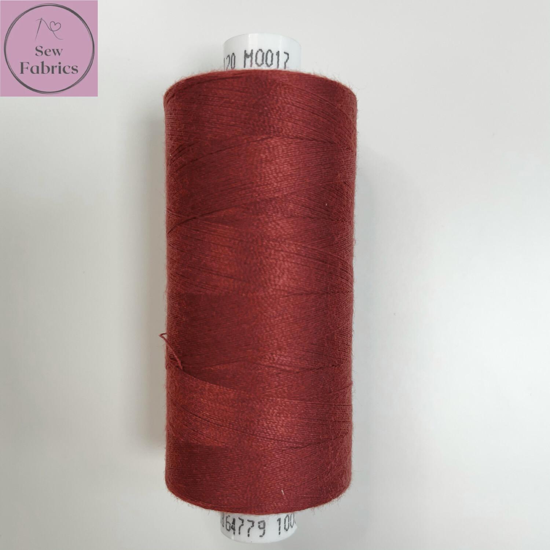 1 x 1000y Coats Moon Thread - Wine M017