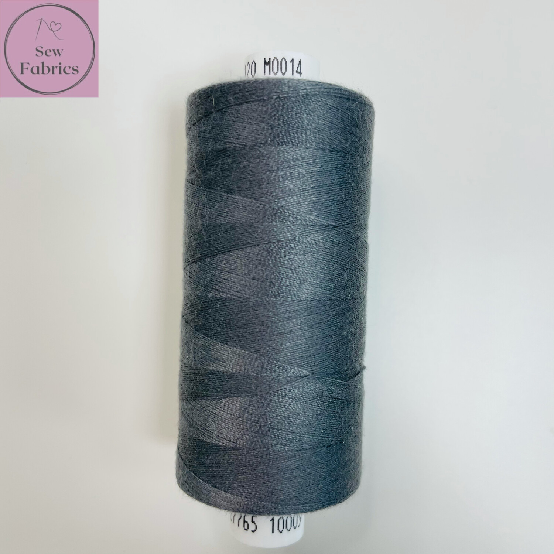 1 x 1000y Coats Moon Thread - Dark Grey M014