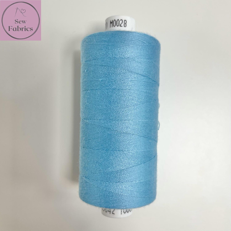 1 x 1000y Coats Moon Thread - Bright Blue M028