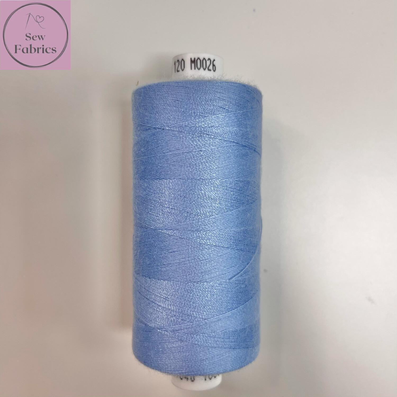 1 x 1000y Coats Moon Thread - Sky Blue M026