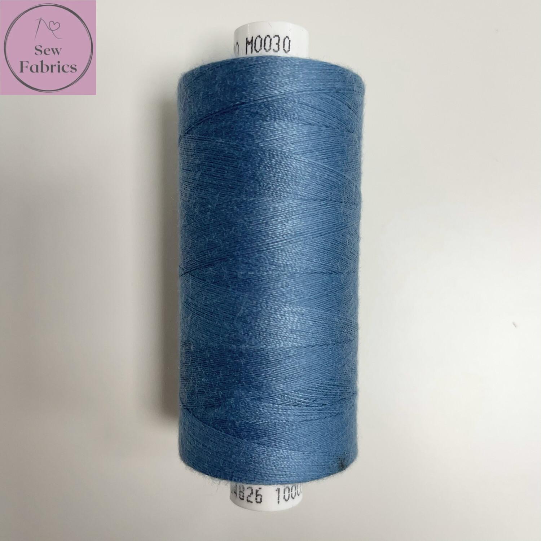 1 x 1000y Coats Moon Thread - Vintage Blue M030