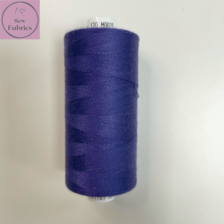 1 x 1000y Coats Moon Thread - Bright Purple M025