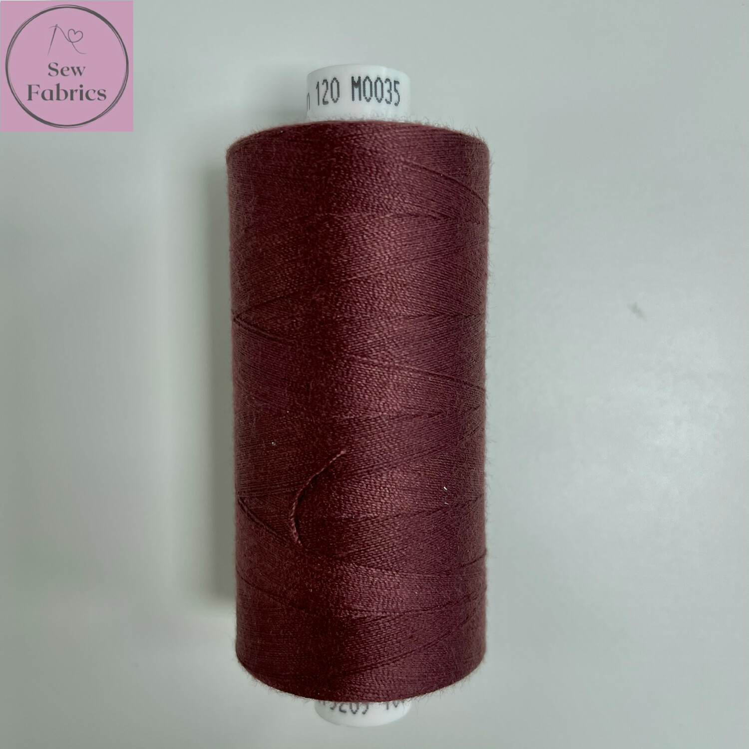 1 x 1000y Coats Moon Thread - Burgundy M035