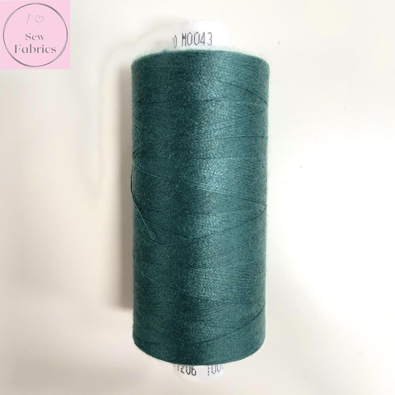 1 x 1000y Coats Moon Thread - Teal M043