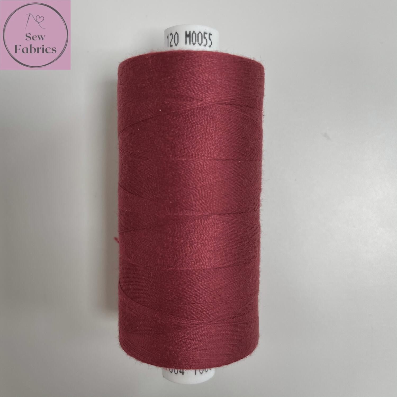 1 x 1000y Coats Moon Thread - Deep Red M055