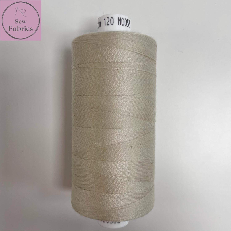 1 x 1000y Coats Moon Thread -  Bone M059