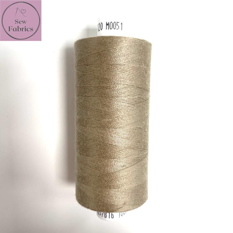1 x 1000y Coats Moon Thread -  Fawn M051