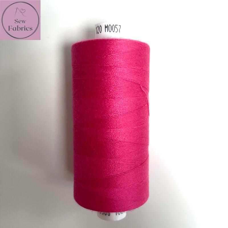 1 x 1000y Coats Moon Thread - Bright Pink M057