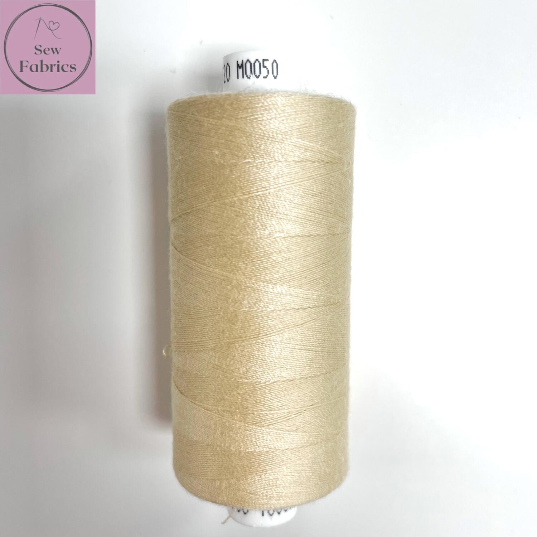 1 x 1000y Coats Moon Thread -  Beige M050