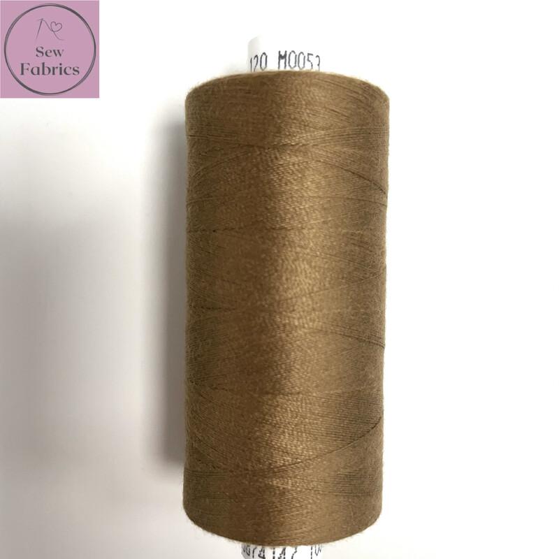 1 x 1000y Coats Moon Thread -  Tawny Brown M053