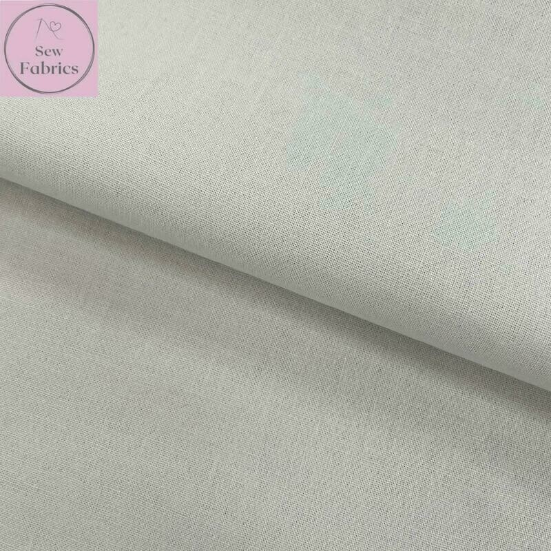 Dove Grey 100% Craft Cotton Solid Fabric Plain Pale Light Grey Material