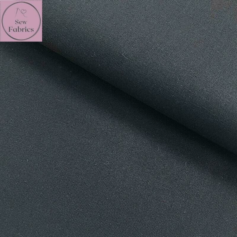 Graphite Grey 100% Craft Cotton Solid Fabric Plain Material