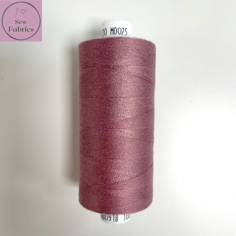1 x 1000y Coats Moon Thread in Vintage Pink M075