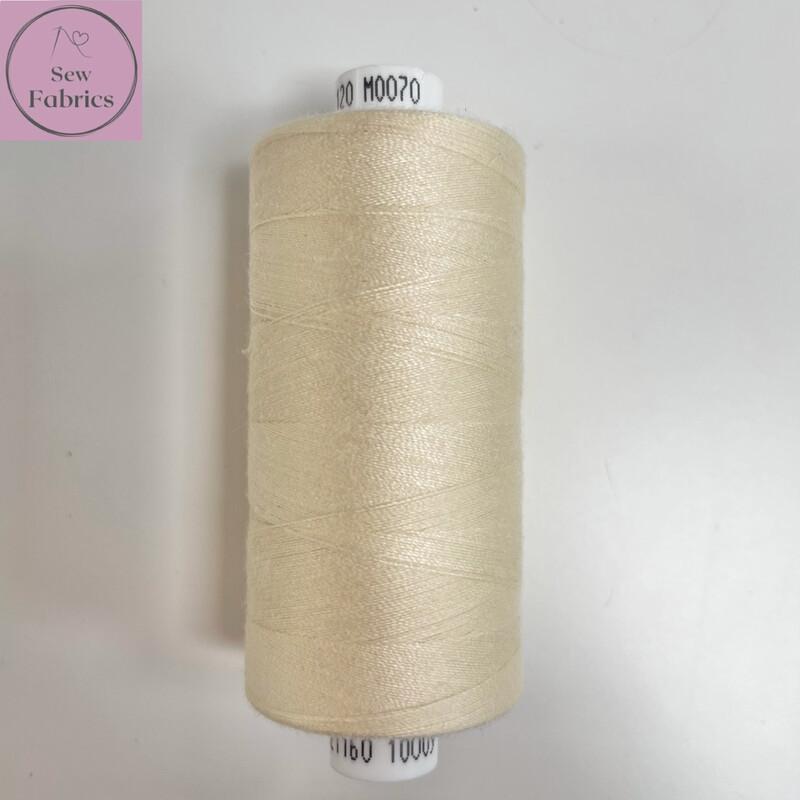 1 x 1000y Coats Moon Thread in Vanilla Moon M070
