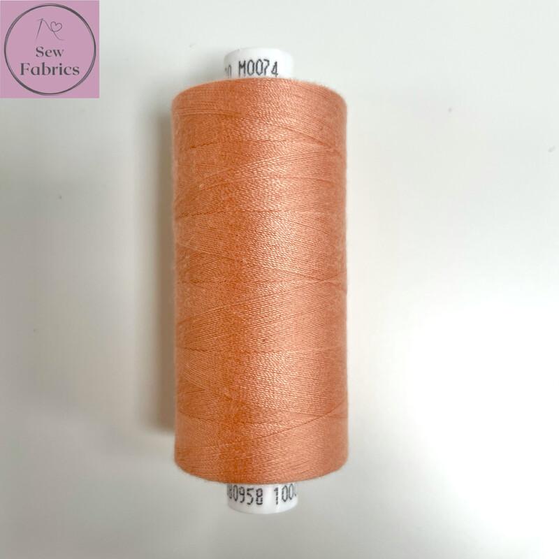 1 x 1000y Coats Moon Thread in Peach M074