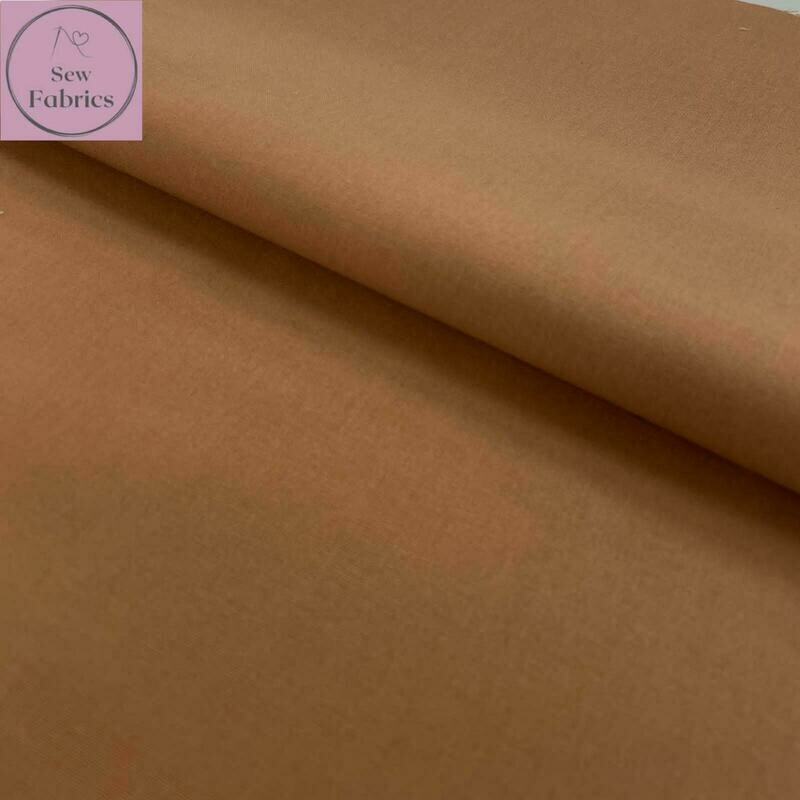 Camel 100% Craft Cotton Solid Fabric Plain Material