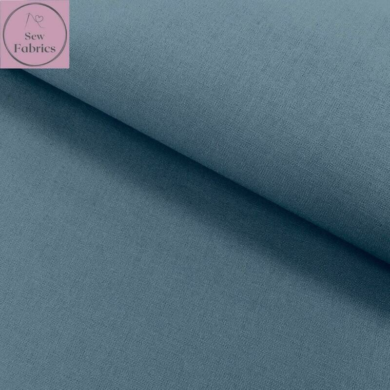 Airforce Blue 100% Craft Cotton Solid Fabric Plain Blue Material
