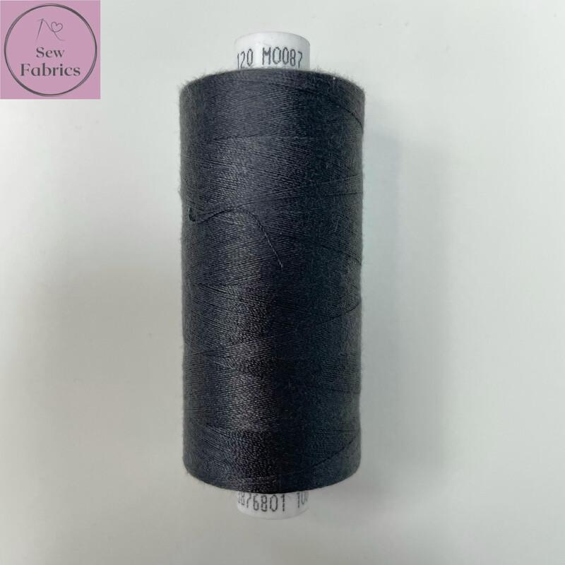 1 x 1000y Coats Moon Thread - Dark Grey M087