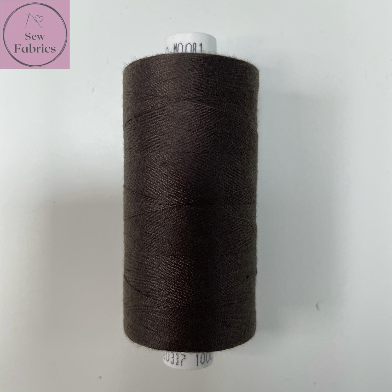 1 x 1000y Coats Moon Thread -  Dark Brown M081
