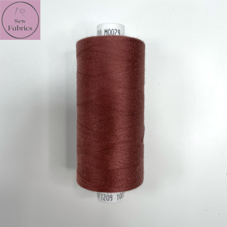 1 x 1000y Coats Moon Thread in Sangria M079