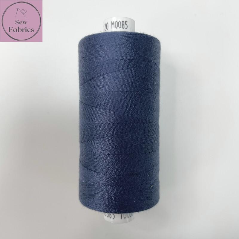1 x 1000y Coats Moon Thread - Dark Denim M085