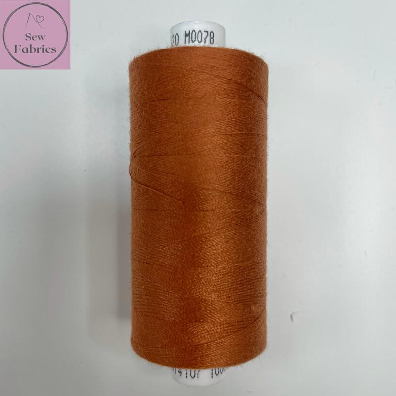 1 x 1000y Coats Moon Thread in Rust M078