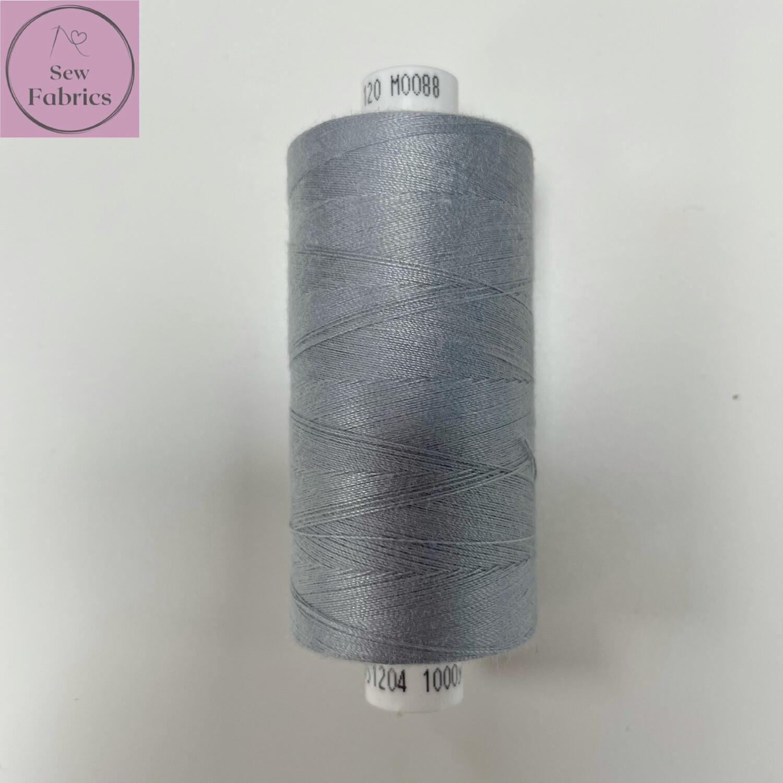 1 x 1000y Coats Moon Thread - Light Grey M088