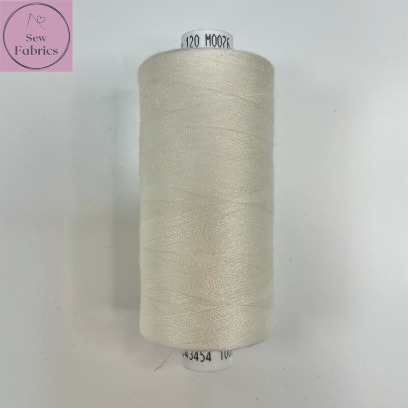 1 x 1000y Coats Moon Thread in Ivory / Cream Neutral M076
