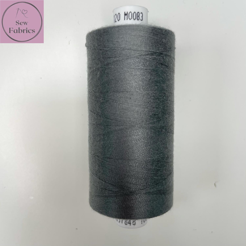1 x 1000y Coats Moon Thread - Metal Grey M083