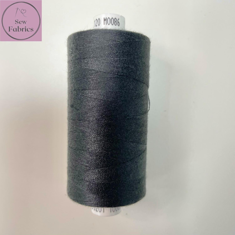 1 x 1000y Coats Moon Thread - Dark Grey M086