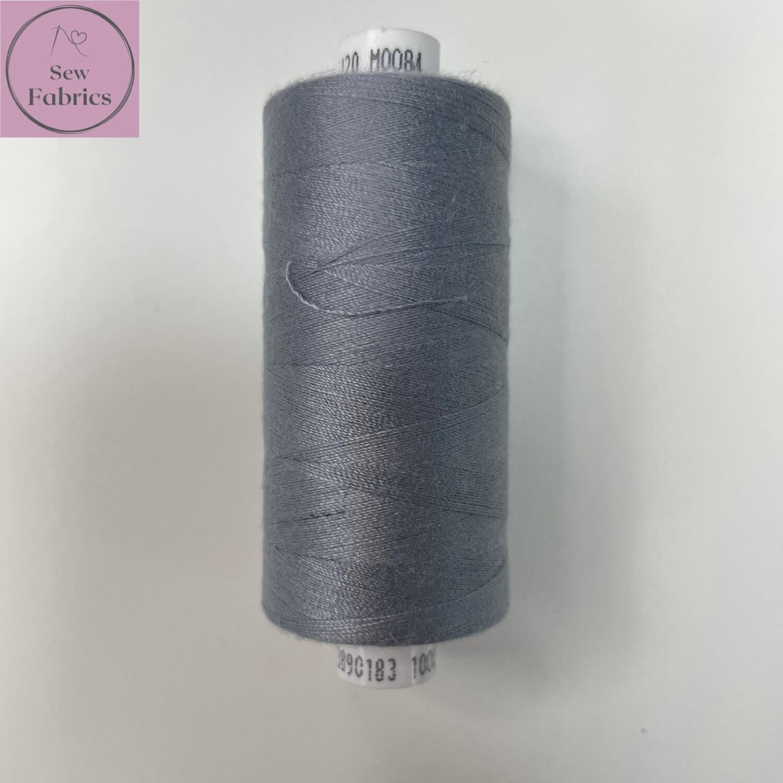 1 x 1000y Coats Moon Thread - Storm Grey M084