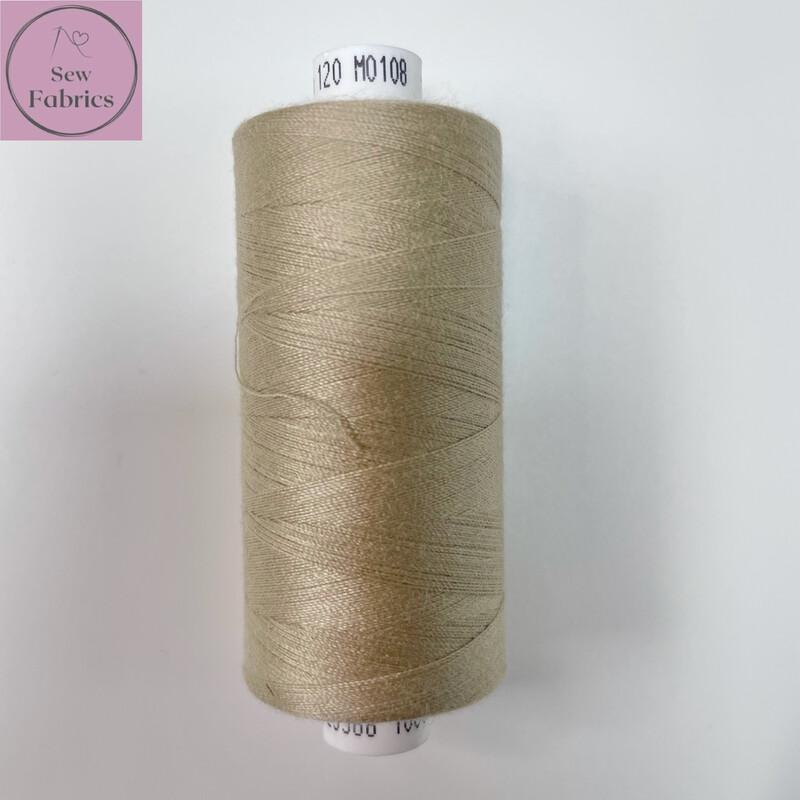 1 x 1000y Coats Moon Thread - Oatmeal M108