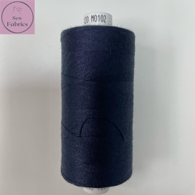1 x 1000y Coats Moon Thread - Navy Blue M102