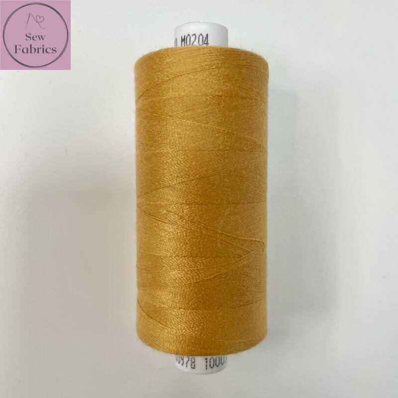 1 x 1000y Coats Moon Thread - Gold M204
