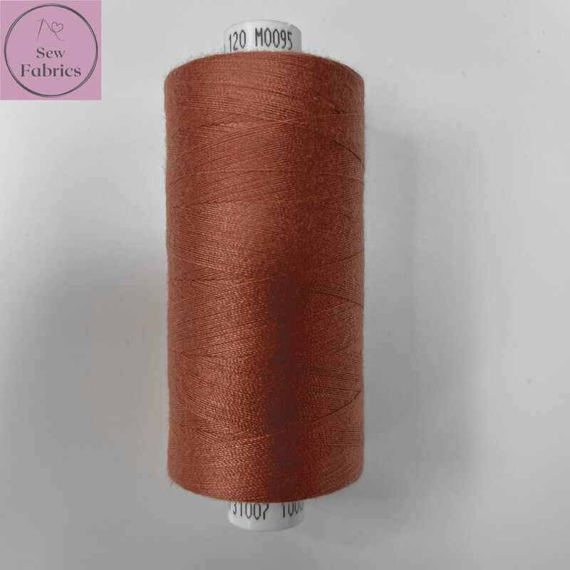 1 x 1000y Coats Moon Thread - Clay Brick M095