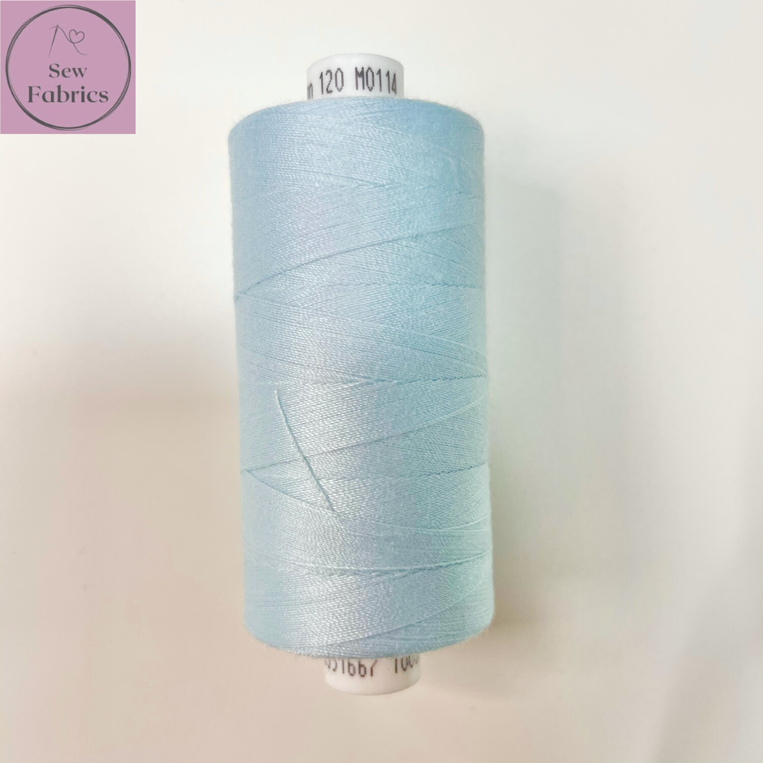 1 x 1000y Coats Moon Thread Box - Light Blue M114