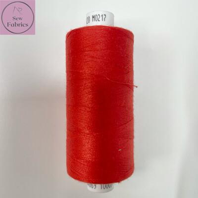 1 x 1000y Coats Moon Thread -  Red M217