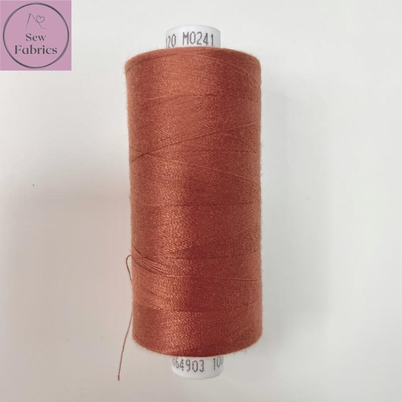1 x 1000y Coats Moon Thread - Rust M241