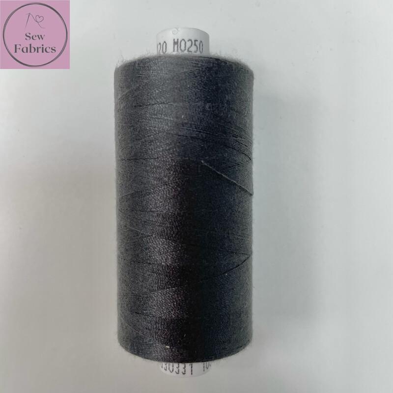 1 x 1000y Coats Moon Thread - Dark Grey M250