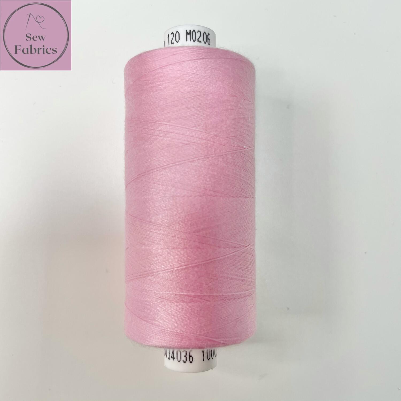 1 x 1000y Coats Moon Thread - Mid Pink M206