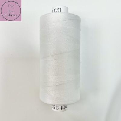 1 x 1000y Coats Moon Thread - Off White M251