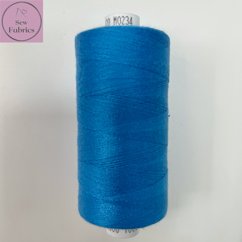 1 x 1000y Coats Moon Thread - Turquoise Blue M234