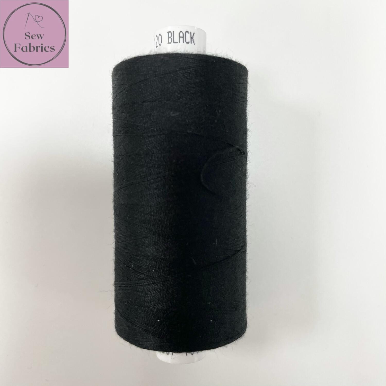 1 x 1000y Coats Moon Thread - Black