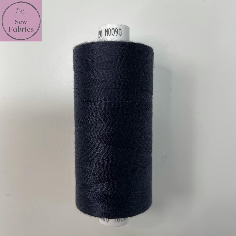 1 x 1000y Coats Moon Thread -  Midnight Blue M090