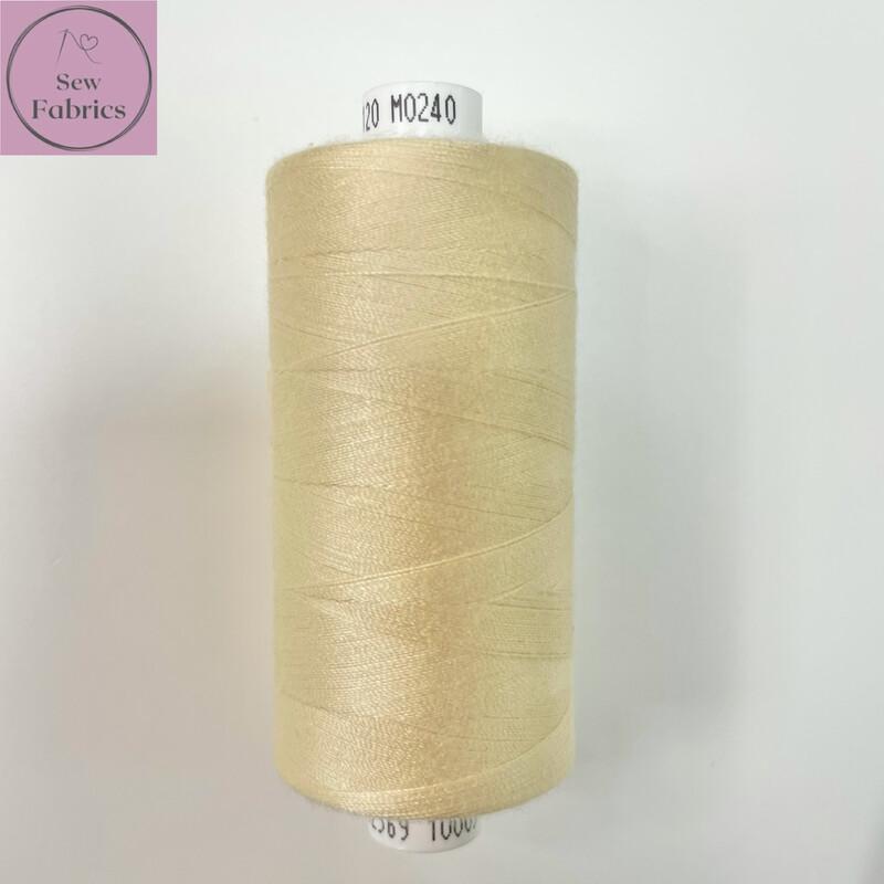 1 x 1000y Coats Moon Thread - Clotted Cream M240