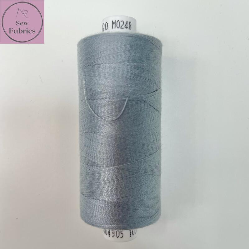 1 x 1000y Coats Moon Thread - Pewter Grey M248